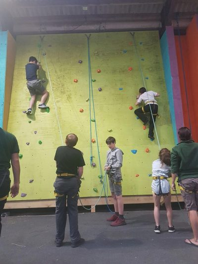 Scaling a wall at Birch Hall